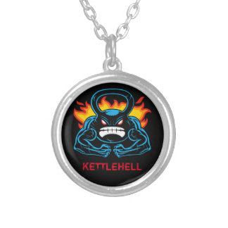 kettlehell round pendant necklace