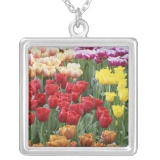 Keukenhof Gardens, Holland, specializes in 2 Square Pendant Necklace
