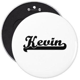 Kevin Classic Retro Name Design 6 Cm Round Badge
