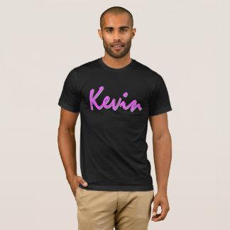 Kevin Pink Logo on Black T Shirt
