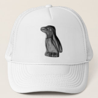 Kevin the Penguin Drawn Alone Trucker Hat