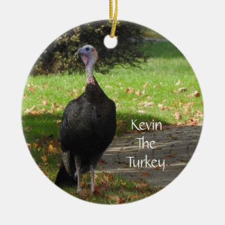 Kevin The Turkey - Old Wethersfield , CT (2 Sides) Christmas Ornament