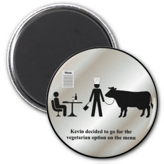 Kevin Vegetarian Menu Magnet