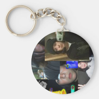 kevinkevinkevin-keychain basic round button key ring