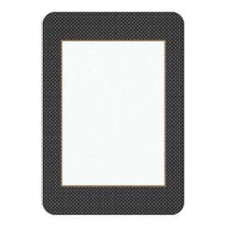 Kevlar Carbon Fiber Material 9 Cm X 13 Cm Invitation Card