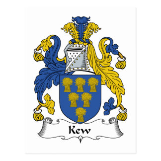 Kew Family Crest Postcard
