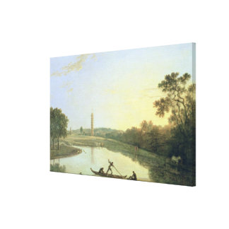 Kew Gardens: The Pagoda and Bridge, 1762 (oil on c Canvas Print