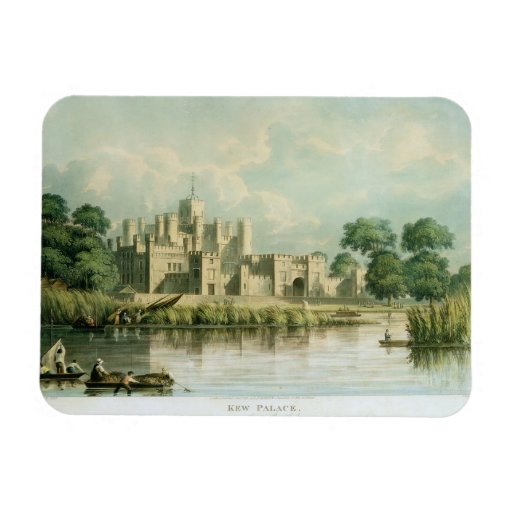 Kew Palace as seen from Brentford, engraved by Tho Rectangular Magnet