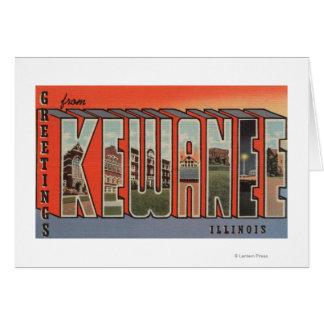 Kewanee, Illinois - Large Letter Scenes 2 Card