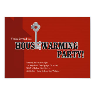 Key and Heart, Housewarming Party Card
