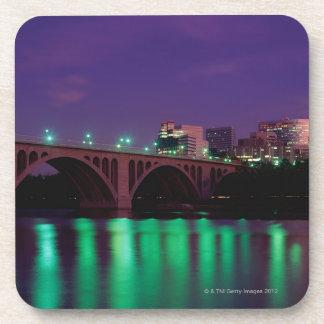 Key Bridge crossing the Potomac River Coaster