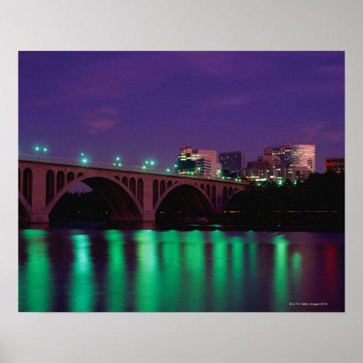 Key Bridge crossing the Potomac River Poster