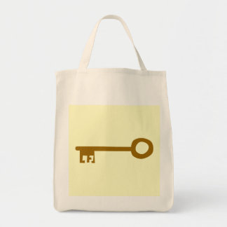 Key Brown Key on Cream Canvas Bags