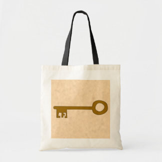 Key. Brown Key on Parchment Effect. Tote Bag
