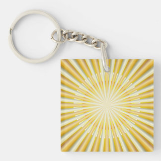 Key Chain Abstract Sun