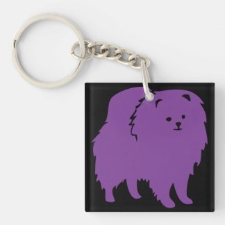 Key Chain, Acrylic - SCPR Pom Logo Double-Sided Square Acrylic Key Ring
