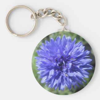 Key Chain - Basic - Cornflower Blue Bachelor's Btn