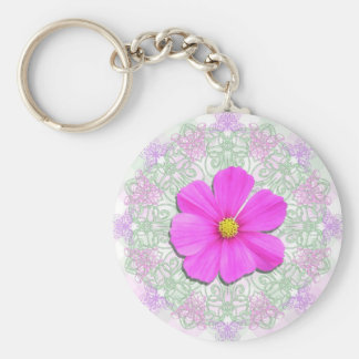 Key Chain - Basic - Dark Pnk Cosmos Lace & Lattice