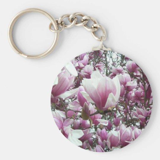 Key Chain - Basic - Saucer Magnolia