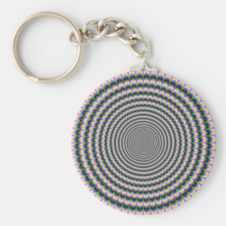 Key Chain    Brain-Buster in Blue Green and Pink