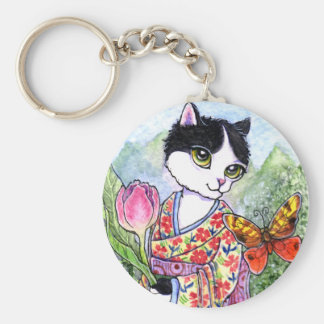 Key Chain Cat Geisha Fairy Fantasy by Ann Howard