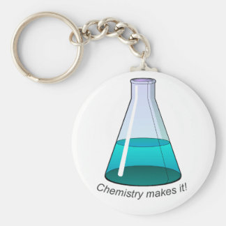 Key chain: Chemistry makes it! Basic Round Button Key Ring