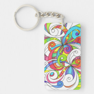Key Chain Floral abstract background Acrylic Key Chains