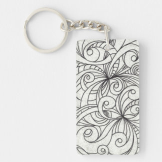 Key Chain Floral abstract background Acrylic Keychains