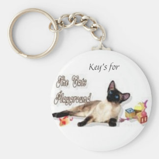 Key-chain for a Catlover Basic Round Button Key Ring