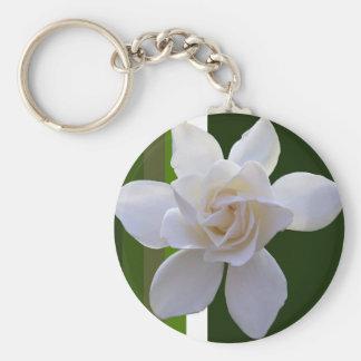 Key Chain - Gardenia on Stripes