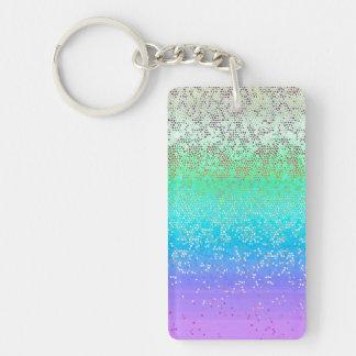 Key Chain Glitter Star Dust
