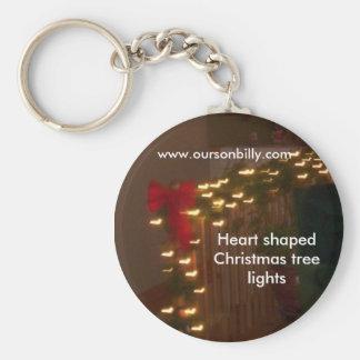 Key chain  heart shaped lights
