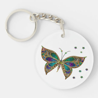 Key Chain--Mosaic Butterfly Key Ring