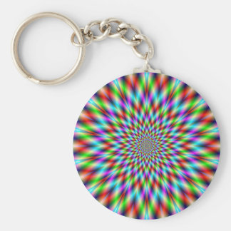 Key Chain  Neon Star Exploding
