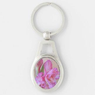 Key Chain--Pink Gladiolus Key Ring