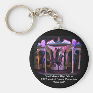 "Key Chain-PRHS 2009 Musical ""Carousel"" Basic Round Button Key Ring"
