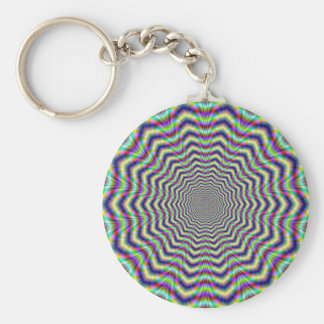 Key Chain   Psychedelic Web Star