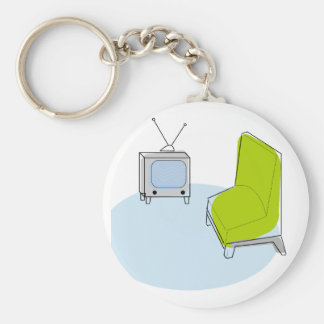 Key Chain Retro TV & Chair Design