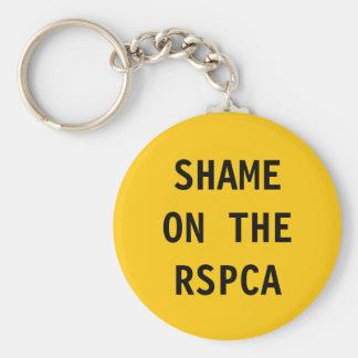 Key Chain Shame On The RSPCA Basic Round Button Keychain