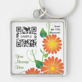 Key Chain Template Generic Orange Flower