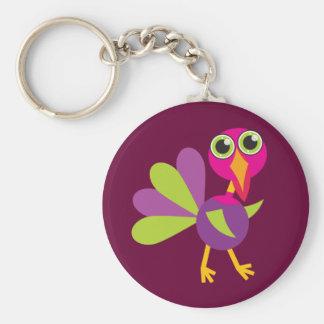 Key Chain - Thanksgiving Cute Turkey