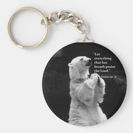 key chain with let everything that has breath