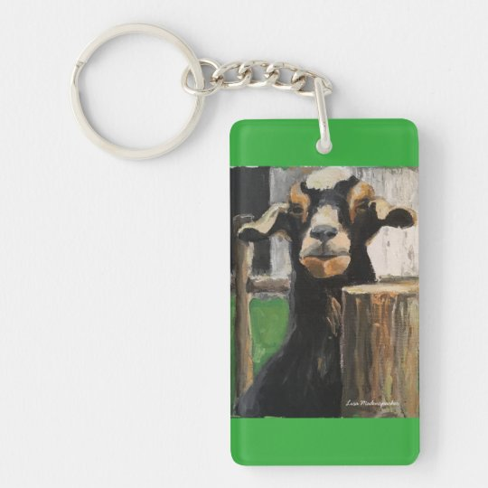 Key chain with racing goat customised