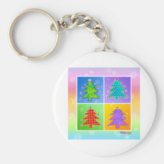 Key Chains - Pop Art Christmas Trees