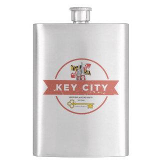 Key City Brewing Hip Flask