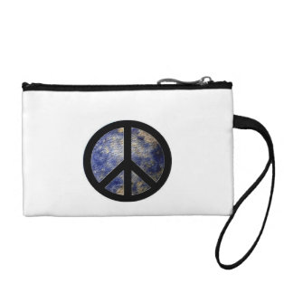 Key Coin Clutch with Groovy Peace Symbol Coin Wallet