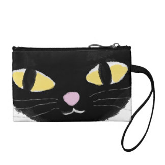Key Coin Clutch with Omy cat's eyes