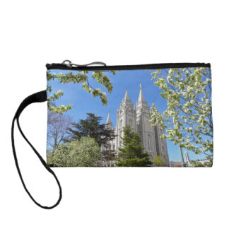 Key Coin Clutch with Salt Lake City Temple Change Purse