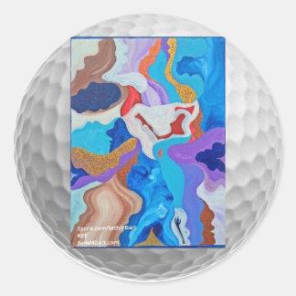 Key Golf Ball Round Sticker