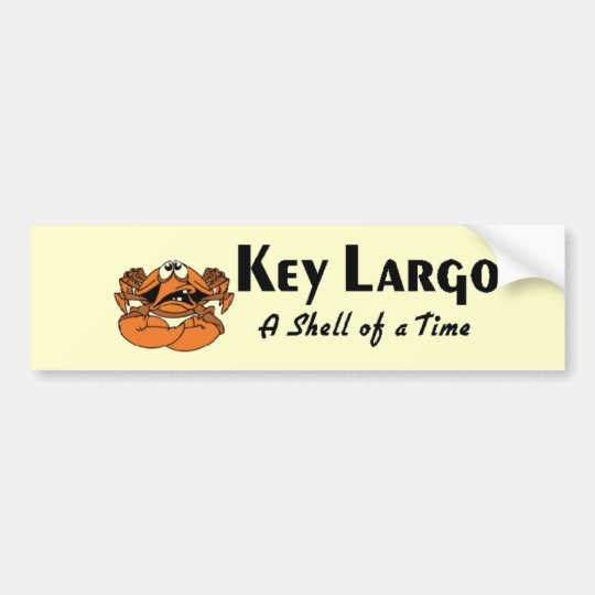 Key Largo crab Bumper Sticker